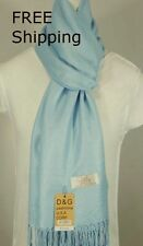 DG Pashmina/Scarf/Shawl/Wrap,Light Blue Silk,Cashmere.Soft*030