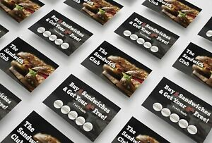 Sandwich Loyalty Cards For Cafe, Bistro, Sandwich Shop - From 6p/Card