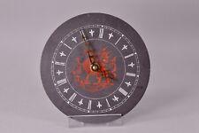 CYMRU Wales Red Dragon Celtic Welsh Slate Round Wall Quartz Clock Works