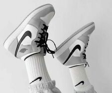 Nike Air Jordan 1 Mid GS - Light Smoke Grey - Sizes 3-6UK 554725-092