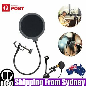 Microphone Filter Mask Double Layer Pop Filter Recording Studio Microphone Wind