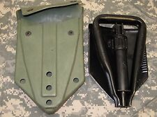 MILITARY E-TOOL TRI-FOLD SHOVEL ENTRENCHING /w ALICE POUCH AMES 1983 a3