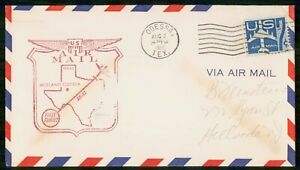 MayfairStamps US 1959 Odessa to San Angelo Texas First Flight Cover wwi78451