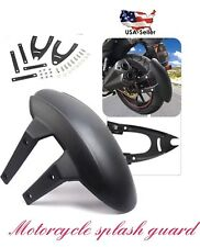 Universal Motorcycle Rear Wheel Cover Fender Splash Guard Mudguard + Bracket kit