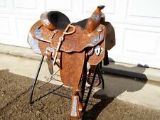 """Big Horn Western Silver Show Saddle #1888 16"""" seat full QH Bars includes Bridle"""