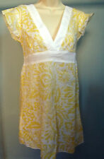 BILLABONG Girls Light Beach Floral dress TOP Size 8-10 NEW Summer 2 surf yellow