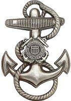 US Coast Guard Anchor Cap Hat Badge Screw Back USCG Pin Naval Insignia FREE SHIP