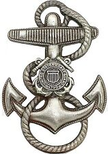 US Coast Guard Anchor Cap Hat Badge Screw Back USCG Pin Naval Insignia