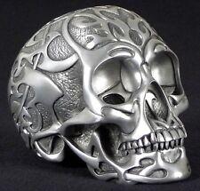 Tribal Skull medium silber - Deko Figur Gothic Totenkopf