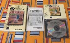 CIVILIZATION II + ESPANSIONE SCENARI!! RARO! DA COLLEZIONE! PERFETTO! PC CD ROM