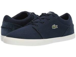 New Men's Lacoste Bayliss 219 Canvas Shoes Size 9 11 11.5 12 13 Navy
