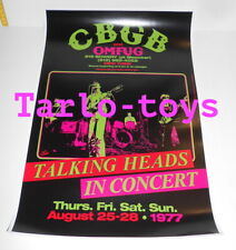 TALKING HEADS - New York, Us - 25 august 1977  - concert poster
