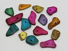 100 pcs Mixed Color Natural Coconut Palm Wood Irregular Chips Loose Beads Craft