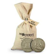 "$100 Face Value Bag of 90% 1948-1963 ""Junk"" Silver Franklin 50c Half Dollars"