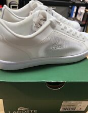 Lacoste Straight Set Sport Leather Blend White Casual Sneaker Jogger