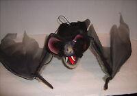 "Creepy Halloween Hanging Flying Bat 42"" wing span x body 14 1/2"""