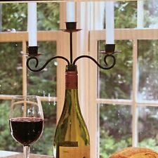 Vineyard Triple Wine Bottle Candlelabra for Your Wine Bottle Candlestick Holder