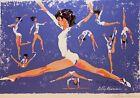 Leroy Neiman - Nadia Comenaci - 1976 Montreal Olympiad - Artist Signed Serigraph