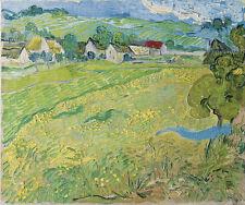 oil painting Vincent van Gogh Les Vessenots à Auvers impressionism landscape art