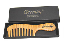 Green Sandalwood Natural Scent Aroma Hair Wood Anti Static Comb - Wide Tooth