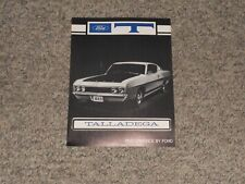 1969 Ford Fairlane Torino Talladega Dealer Brochure