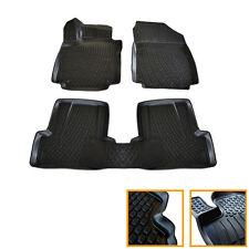 4 TAPIS SOL CAOUTCHOUC 3D TPE SUR MESURE RENAULT CLIO 4 2012- ESTATE GRANDTOUR