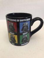 STAR WARS EXPRESSIONS OF DARTH VADER BLACK TEA COFFEE MUG CUP