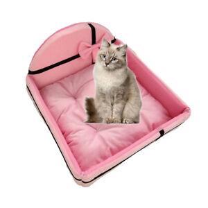 Pet Sofa Bed Dog Cat Nest Mattress Puppy Warm Kennel + Sleeping Cushion Pillow