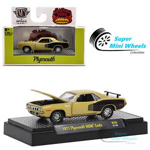 M2 Machines 1:64 - Detroit-Muscle - 1971 Plymouth HEMI Cuda (Yellow)