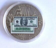 American Mint 1928-1929 $100 Ben Franklin Commemorative Proof Coin w/COA NEW