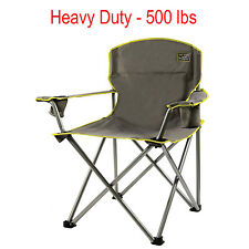 Quik Chair Heavy Duty Folding Camp Chair Grey Portable Outdoor Fishing Picnic