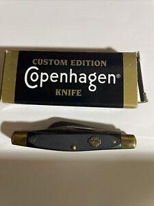 SCHRADE KNIFE MADE IN USA COPENHAGEN ADVERTISING 2 BLADE JACK VINTAGE POCKET