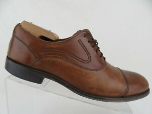 COLE HAAN Cap-Toe Brown Sz 9 M Men Dress Shoe Oxfords