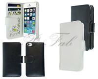 Nuovo Premium Nero Pelle Flip Portafoglio Custodia Cover Telefono Per Apple