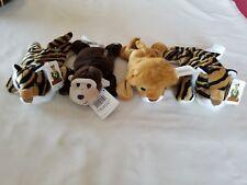 DISNEYLAND ADVENTURELAND GORILLA LION &2 TIGERS BEAN BAG with SOUND..RETIRED