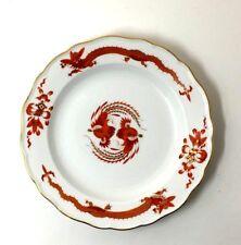 "Antique Rare Meissen Red Opulent Court Dragon Small Plate 7 3/4"" 20cm Circa 1924"