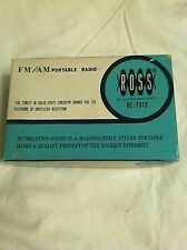Ross Re-7012 FM AM Portable Radio  Vintage In Box