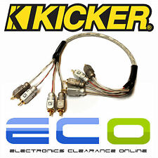 Kicker CAR AUDIO Proffesional 0.5 metros de Phono RCA Cables lleva 2 Pares De Rca