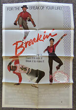 BREAKIN 1984 ORIGINAL 1 SHEET MOVIE POSTER LUCINDA DICKEY BREAK DANCING