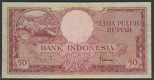 Indonesia 50 Rupiah 1957, VF+, Pick 50 / H-242b