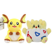 2X Pokemon Raichu and Togepi Plush Toy Stuffed Animal Doll Christmas Gift