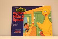 NES Video Game Manual ONLY for Sesame Street Big Bird's Hide & Speak
