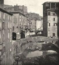 ARDÈCHE. Une rue D'annonay 1900 old antique vintage print picture