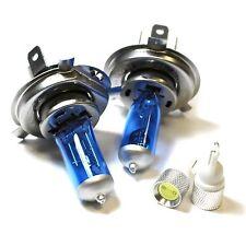 H4 501 55w Super White Xenon HID High/Low/Slux LED Side Light Bulbs Set