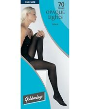 golden legs 70 denier black opaque tights nylons panty hose one size