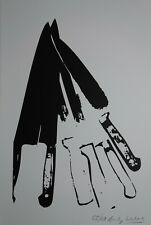 Limited POP ART edition silkscreen serigraph, Knives, signed Andy Warhol w DOCS