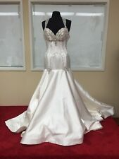 ST.PUCCHI Couture,wedding Bride Gown,#9310,SZ 10,SILK,BEADS,SWAROVSKI,NEW!22