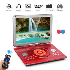 14'' Portable DVD Players Car EVD TV SD MP4 Game Remote Control 270° Rotation UK