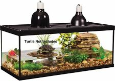Glass Reptile Amphibian Terrarium Fish Aquarium Cage Tank Habitat Filter 2 Light
