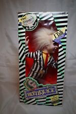 """KENNER TALKING BEETLEJUICE 16"""" Pull String 1989 Doll Head Spins  toys-187e"""